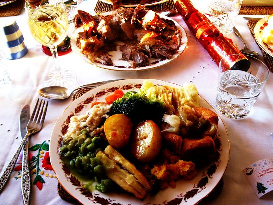 Traditional English Christmas Dinner.Merry Christmas To One And All And A Look At A Traditional